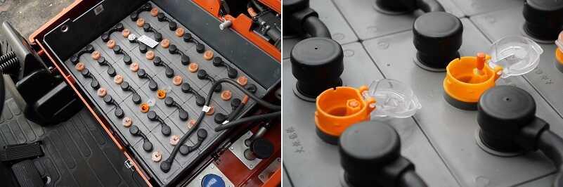 cách sử dụng ắc quy xe nâng chì axit