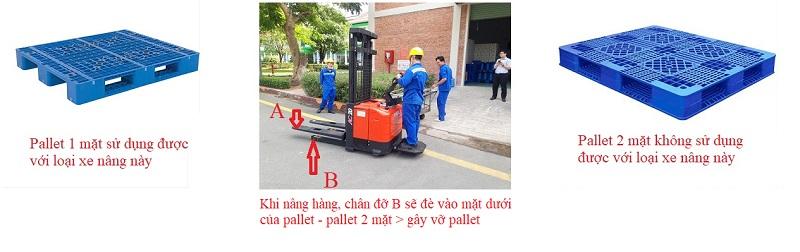 pallet cho xe nâng điện đứng lái 2 tấn