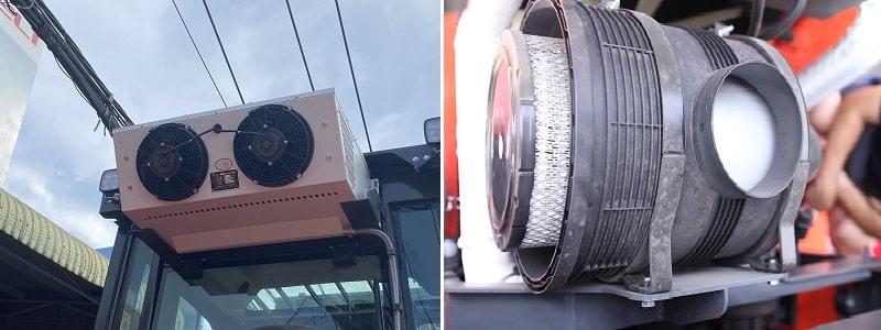 điều hòa xe nâng 18 tấn