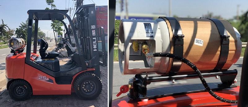 cấu tạo xe nâng chạy xăng ga
