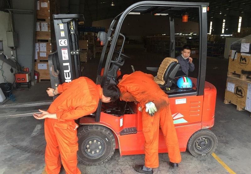 sửa xe nâng điện tại long an