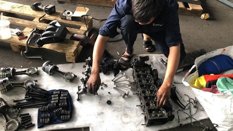sửa xe nâng diesel tại long an