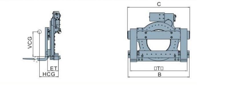 Bộ càng quay đổ 360 độ model D series