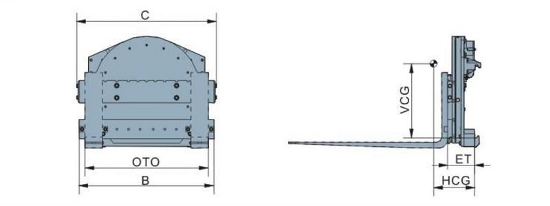Bộ càng quay đổ 360 độ model J series