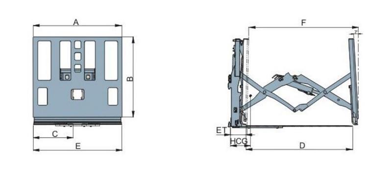 thông số kỹ thuật bộ kéo đẩy slipsheet