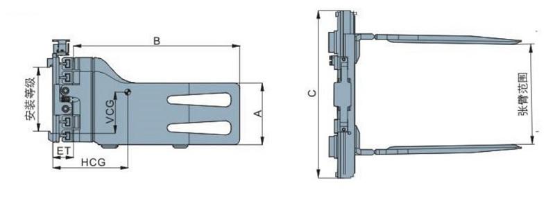 Bộ càng kẹp khối vuông model ST series