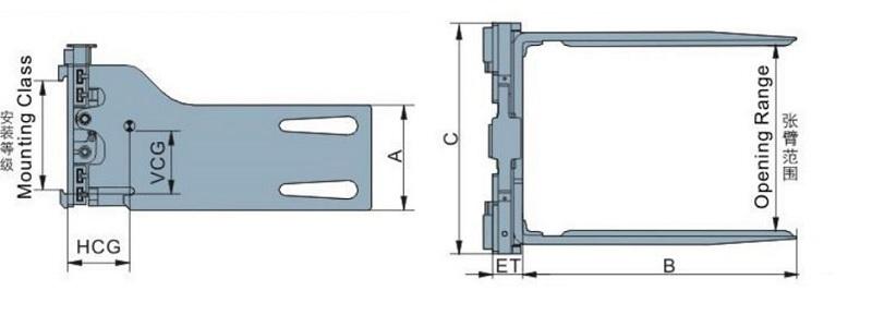 Bộ càng kẹp khối vuông T series