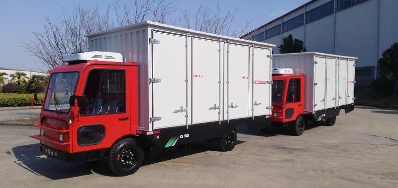 xe kéo chở hàng chạy điện 5 tấn