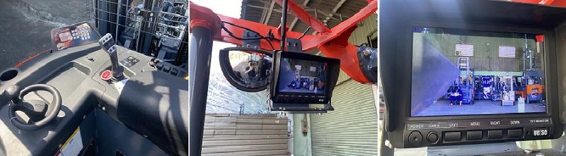 cabin điều khiển xe nâng điện reach truck heli