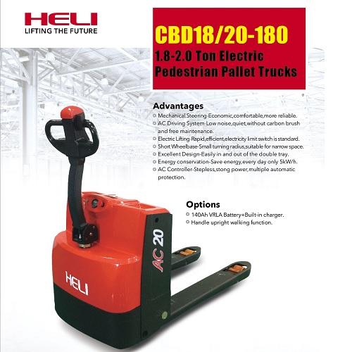 xe nâng tay chạy điện Heli cbd20-180