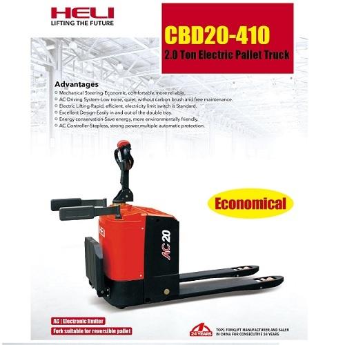 Xe nâng tay điện Heli CBD20-410