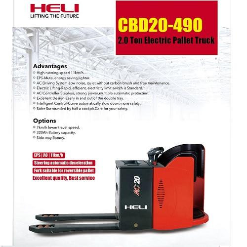 Xe nâng tay điện Heli CBD20-490