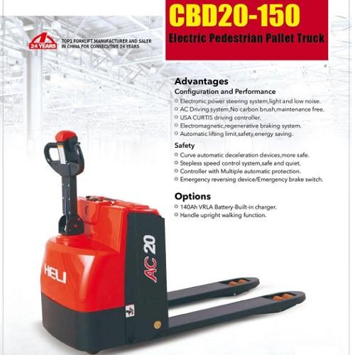 xe nâng tay điện Heli CBD20-150