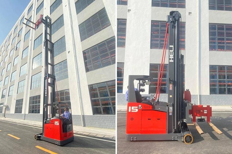 xe nâng điện 3 chiều heli 1.5 tấn