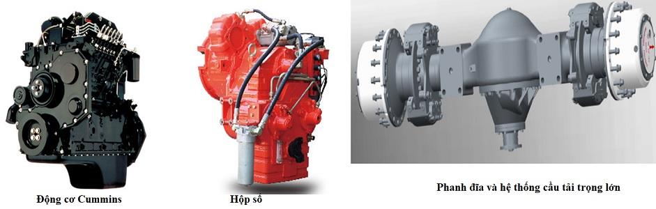 động cơ và hộp số xe nâng Heli 14-16-18 tấn