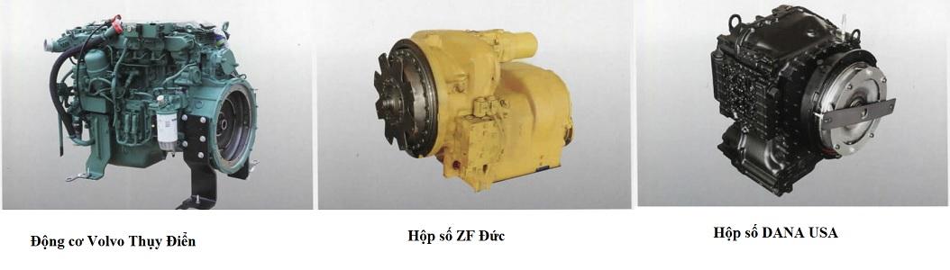 động cơ và hộp số xe nâng Heli 25 tấn