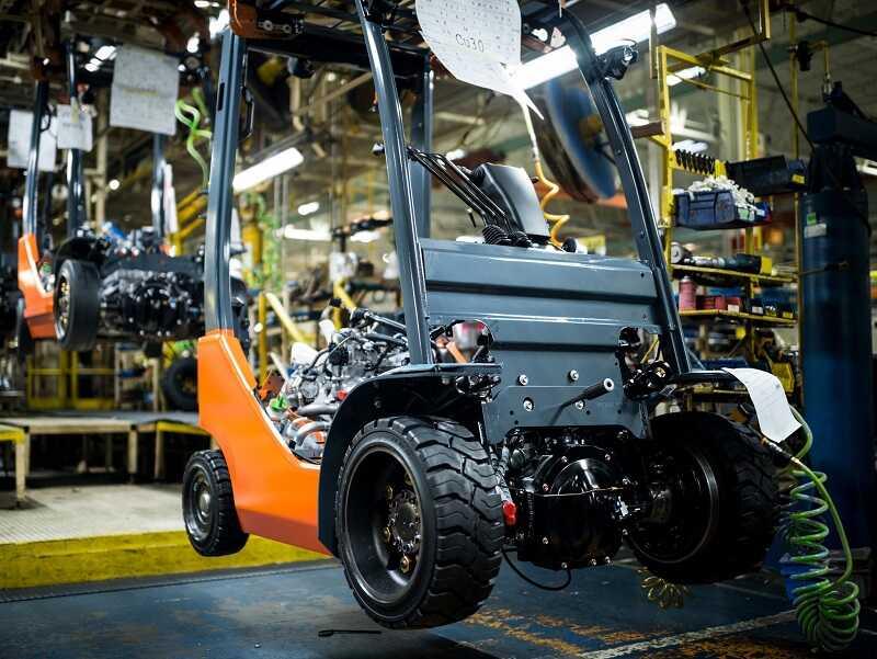 công nghệ sản xuất xe nâng Toyota 3.5 tấn