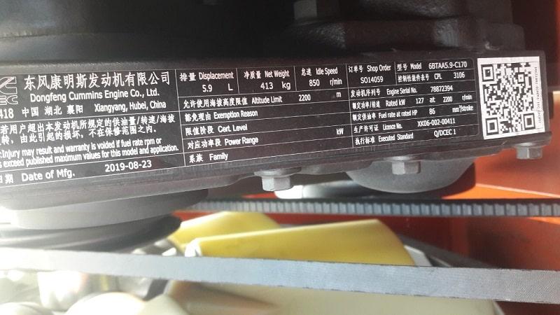 động cơ Cummins Dongfeng xe nâng 16 tấn