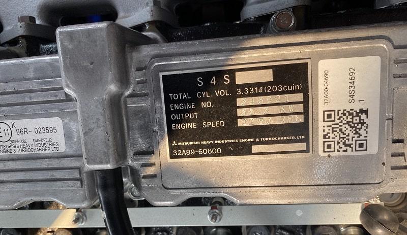 Động cơ Mitsubishi S4S trên xe nâng HELI